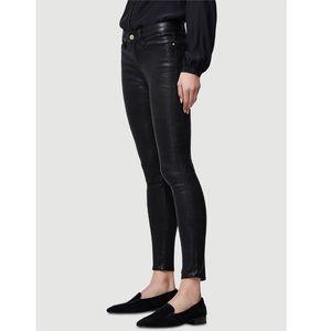 FRAME Le Skinny Lambskin Leather Pants- Black - 29